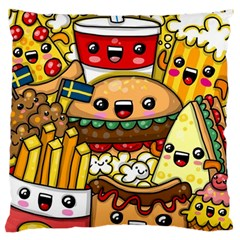 Cute Food Wallpaper Picture Large Cushion Case (two Sides) by Nexatart