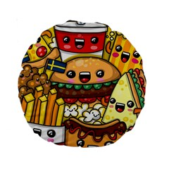 Cute Food Wallpaper Picture Standard 15  Premium Round Cushions by Nexatart