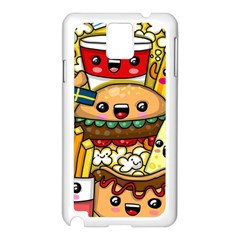 Cute Food Wallpaper Picture Samsung Galaxy Note 3 N9005 Case (white) by Nexatart