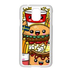 Cute Food Wallpaper Picture Samsung Galaxy S5 Case (white)