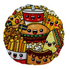 Cute Food Wallpaper Picture Large 18  Premium Flano Round Cushions