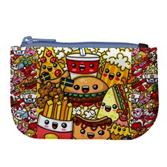 Cute Food Wallpaper Picture Large Coin Purse by Nexatart