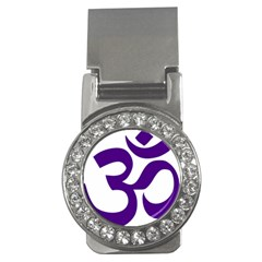 Hindu Om Symbol (purple) Money Clips (cz)  by abbeyz71