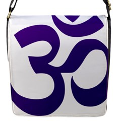 Hindu Om Symbol (purple) Flap Messenger Bag (s) by abbeyz71