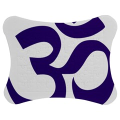 Hindu Om Symbol (purple) Jigsaw Puzzle Photo Stand (bow) by abbeyz71