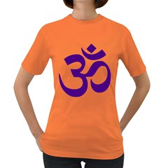 Hindu Om Symbol (purple) Women s Dark T-shirt by abbeyz71