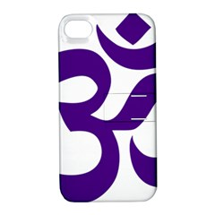 Hindu Om Symbol (purple) Apple Iphone 4/4s Hardshell Case With Stand by abbeyz71
