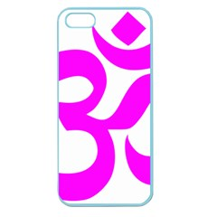Hindu Om Symbol (magenta) Apple Seamless Iphone 5 Case (color) by abbeyz71