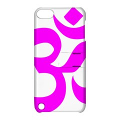 Hindu Om Symbol (magenta) Apple Ipod Touch 5 Hardshell Case With Stand by abbeyz71