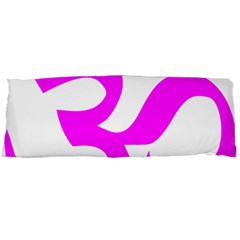 Hindu Om Symbol (magenta) Body Pillow Case Dakimakura (two Sides) by abbeyz71