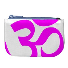 Hindu Om Symbol (magenta) Large Coin Purse by abbeyz71