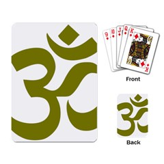 Hindi Om Symbol (olive) Playing Card by abbeyz71