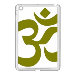 Hindi Om Symbol (olive) Apple Ipad Mini Case (white) by abbeyz71