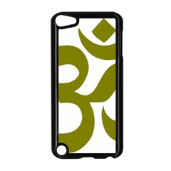 Hindi Om Symbol (olive) Apple Ipod Touch 5 Case (black) by abbeyz71