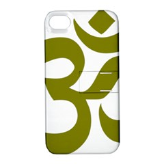 Hindi Om Symbol (olive) Apple Iphone 4/4s Hardshell Case With Stand by abbeyz71