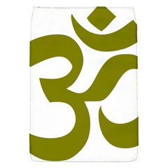 Hindi Om Symbol (olive) Flap Covers (s)  by abbeyz71