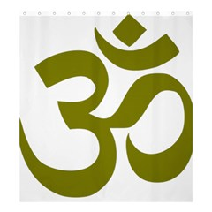 Hindu Om Symbol (olive) Shower Curtain 66  X 72  (large)  by abbeyz71