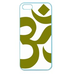 Hindu Om Symbol (olive) Apple Seamless Iphone 5 Case (color) by abbeyz71