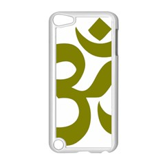 Hindu Om Symbol (olive) Apple Ipod Touch 5 Case (white) by abbeyz71