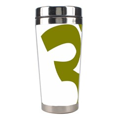 Hindu Om Symbol (olive) Stainless Steel Travel Tumblers by abbeyz71
