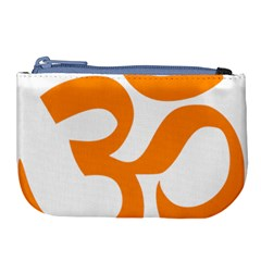 Hindu Om Symbol (orange) Large Coin Purse by abbeyz71