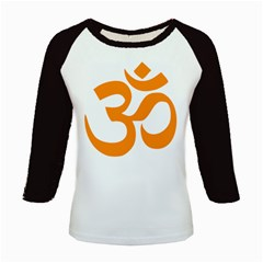 Hindu Om Symbol (orange) Kids Baseball Jerseys by abbeyz71