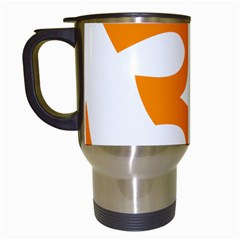 Hindu Om Symbol (orange) Travel Mugs (white) by abbeyz71