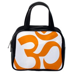 Hindu Om Symbol (orange) Classic Handbags (one Side) by abbeyz71