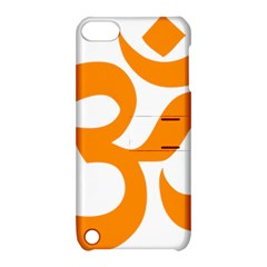 Hindu Om Symbol (orange) Apple Ipod Touch 5 Hardshell Case With Stand by abbeyz71