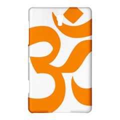 Hindu Om Symbol (orange) Samsung Galaxy Tab S (8 4 ) Hardshell Case  by abbeyz71