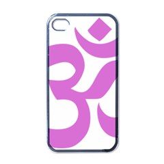 Hindu Om Symbol (bright Purple) Apple Iphone 4 Case (black) by abbeyz71