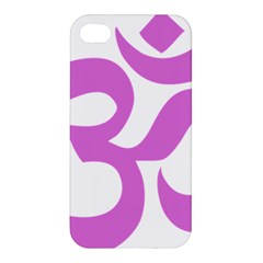 Hindu Om Symbol (bright Purple) Apple Iphone 4/4s Premium Hardshell Case by abbeyz71