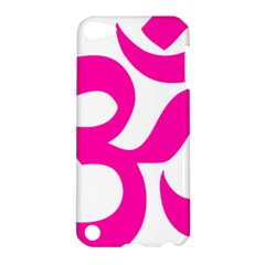 Hindu Om Symbol (pink) Apple Ipod Touch 5 Hardshell Case by abbeyz71