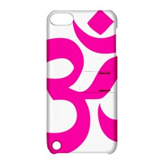 Hindu Om Symbol (pink) Apple Ipod Touch 5 Hardshell Case With Stand by abbeyz71