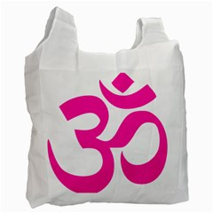 Hindu Om Symbol (pink) Recycle Bag (one Side) by abbeyz71