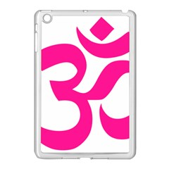 Hindu Om Symbol (deep Pink) Apple Ipad Mini Case (white) by abbeyz71