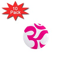 Hindu Om Symbol (deep Pink) 1  Mini Magnet (10 Pack)  by abbeyz71