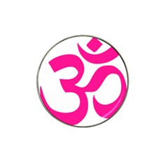 Hindu Om Symbol (deep Pink) Hat Clip Ball Marker by abbeyz71