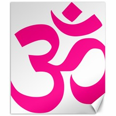 Hindu Om Symbol (deep Pink) Canvas 20  X 24   by abbeyz71