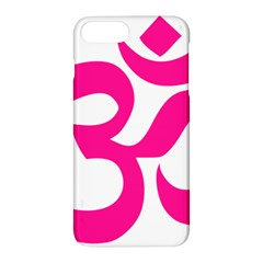 Hindu Om Symbol (deep Pink) Apple Iphone 7 Plus Hardshell Case by abbeyz71