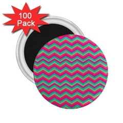 Retro Pattern Zig Zag 2 25  Magnets (100 Pack)  by Nexatart