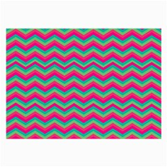 Retro Pattern Zig Zag Large Glasses Cloth