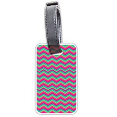 Retro Pattern Zig Zag Luggage Tags (two Sides) by Nexatart