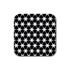 Star Egypt Pattern Rubber Square Coaster (4 Pack)  by Nexatart
