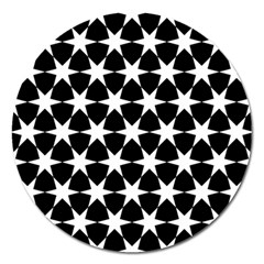 Star Egypt Pattern Magnet 5  (round) by Nexatart