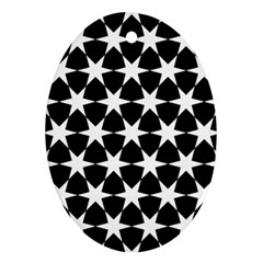 Star Egypt Pattern Oval Ornament (two Sides) by Nexatart