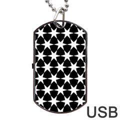 Star Egypt Pattern Dog Tag Usb Flash (one Side)