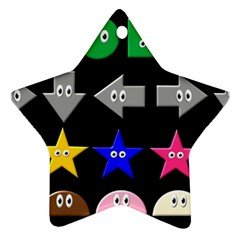 Cute Symbol Star Ornament (two Sides) by Nexatart