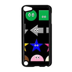 Cute Symbol Apple Ipod Touch 5 Case (black) by Nexatart
