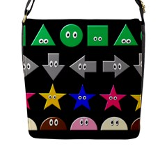 Cute Symbol Flap Messenger Bag (l)  by Nexatart